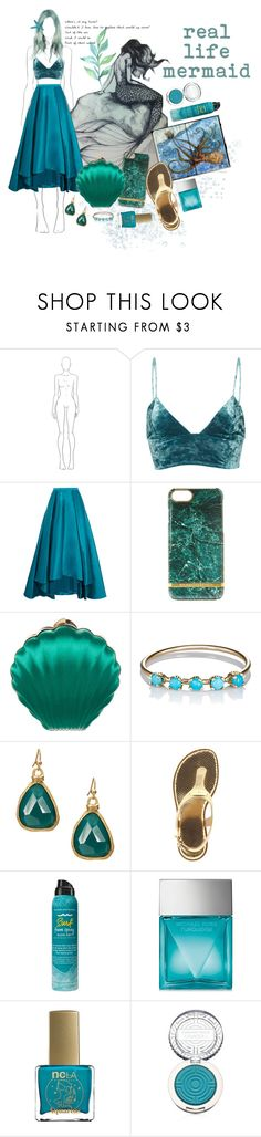 """Mermaid"" by kathrynesker ❤ liked on Polyvore featuring Fleur du Mal, Badgley Mischka, Lanvin, Loren Stewart, MICHAEL Michael Kors, Bumble and bumble, Michael Kors, ncLA and Clinique"