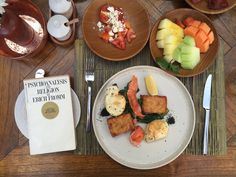 Our breakfast looks so good cured salmon & sesame egg tomato & feta @bismaeight @copperubud #bismaeight #copperubud by uliherdinansyah