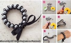 Diy Projects: DIY Ribbon and Pearl Woven Bracelet