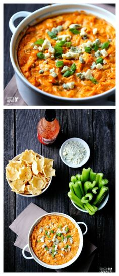 food and drink: Skinny Buffalo Chicken Dip