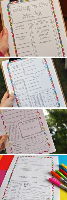 -I'm thinking these may be good to use in the classroom...50 Free Printable Journaling Pages!