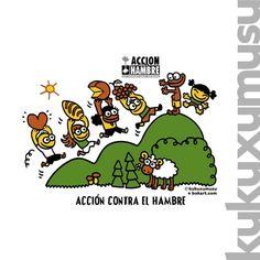 Acción Contra el Hambre de Kukuxumusu! Gracias por el dibujo tan bonito!