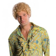 mens tight fro blonde wig halloween costumes - Halloween Costumes With Blonde Wig