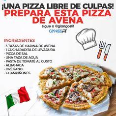 """NUTRICION•EJERCICIO•SALUD on Instagram: """"Prepara esta pizza de avena por @giangosfit🙋♂️ .  Llega el fin de semana. Nos conocemos. Tratamos de desconectar de lo que se suele comer…"""""""