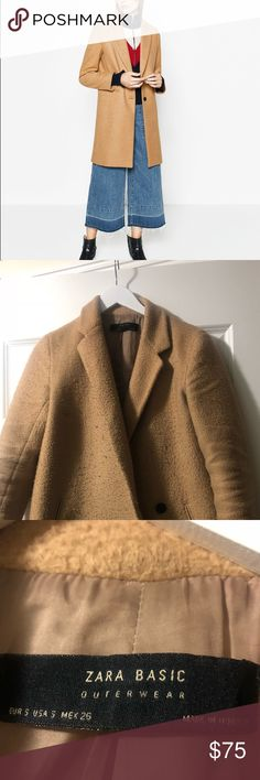 Zara Camel Coat One of my favorite coats! Goes with so many outfits. Easy to dress up & down. In great shape! Only selling because I need to free up space in my tiny NYC closet. Zara Jackets & Coats