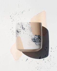 willow vane - Splatter Collection: Solid Beige mug