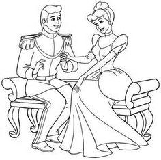Disney Cinderella Coloring Page