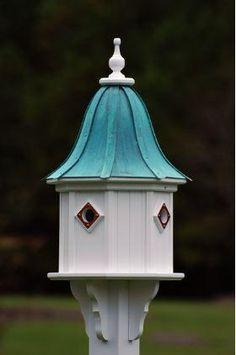 Copper Roof Birdhouse 34x14- 4 Portals