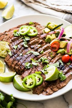 Oct 2019 - A delicious Carne Asada recipe made from marinated flank or skirt steak and cooked on the grill. Juicy, tender and a great addition to any Mexican meal! Barbecue Recipes, Grilling Recipes, Beef Recipes, Vegetarian Recipes, Cooking Recipes, Healthy Recipes, Grilling Tips, Carne Asada Recipes Easy, Vegetarian Grilling
