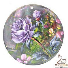 Women's Jewelry  Flower Hand Painted Peony  Black Lip Shell  Pendant  ZL301263 #ZL #Pendant