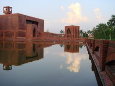 Bangladesh Mosque - lovely use of materials.