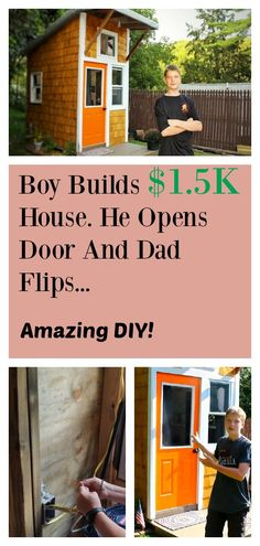 13-Year-Old Luke wanted his own house, so he built it himself. This amazing DIY project shows you just what you could achieve with so little!