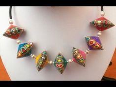 SPINNING TOP BEADS - POLYMER CLAY SET - YouTube