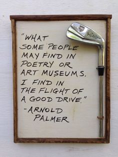 Golf Gift Reclaimed Wood Golf Plaque Arnold Palmer! Find more golf ideas, quotes, tips, and lessons at #lorisgolfshoppe