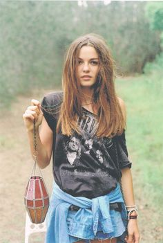 a019acf291d Grunge meets boho  Nirvana tee and denim. Via Know your rights Punk Fashion