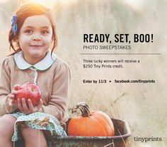 The spookiest season of the year is here. Submit a #Halloween themed photo, past or present for a chance to win $250 towards Tiny Prints. #costumes #trickortreat #spooky