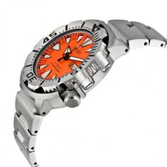 Seiko 5 Sports Diver Automatic Orange Dial Stainless Steel Men's Watch SRP309