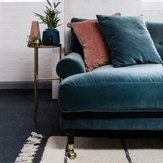Blanca sofa is crafted using luxurious Italian velvet, made from 100% cotton. Scandinavian design. MeliMeli