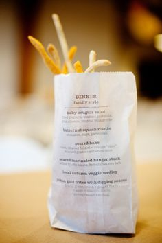 Makea - Hääblogi: Idea menukorttiin