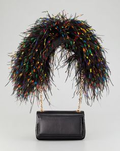 Artemis Ostrich Feather Shoulder Bag by Christian Louboutin at Bergdorf Goodman. $2195