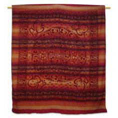 """Ethnic Red Om Print Wall Tapestry Twin Size Home Decor Bed Cover 96"""" X 82"""" Home Decor Bedding, Bed Covers, Wall Prints, Wall Tapestry, Bohemian Rug, Ethnic, Twin, Stone, Artwork"""