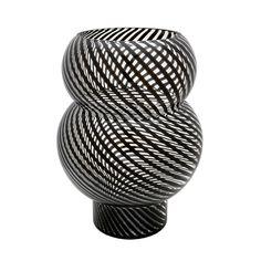 Whirl Bubble Vase design by Lazy Susan, black stripe
