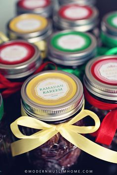 Ramadan Date Jars | www.ModernMuslimHome.com