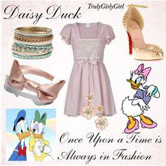 Disney Style: Daisy Duck, created by trulygirlygirl