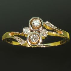 Estate diamond engagement ring a so called toi et moi you and me