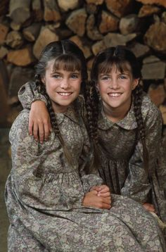 "Lindsay and Sidney Greenbush as Carrie on ""Little House on the Prairie"""