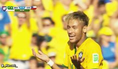 Sport GIF'S : Neymar shrug no no no reaction World Cup Brazil vs...