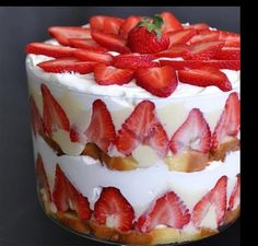 Luscious Strawberry Trifle