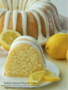 Lemon, Pound Cake, Recipe I got this recipe years ago from a local television show. I love the mild lemon flavor that this cake has. It isn't the over powering mouth puckering lemon flavor li… recipes Italian Lemon Pound Cake Italian Lemon Pound Cake, Italian Cake, Cream Cheese Lemon Pound Cake Recipe, Italian Lemon Cream Cake Recipe, Healthy Lemon Cake Recipe, Healthy Lemon Desserts, Lemon Icing Recipe, Italian Cream Cheese Cake, Frosting Recipes