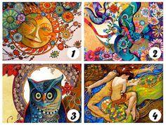 Test psicologico delle illustrazioni colorate