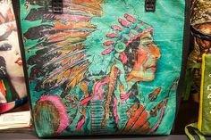 Totem Salvaged Turquoise Indian Bag