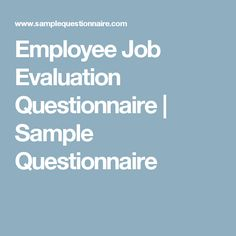 Sample Questionnaires And Answers For Interrviews Etc  Good To