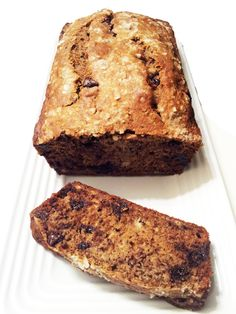 Salted Banana Bread with Olive Oil & Dark Chocolate #Recipe