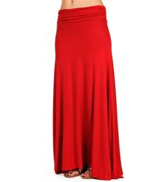 Lipstick Red Maxi Skirt