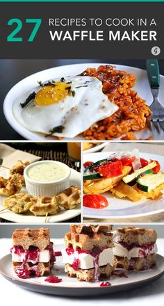 25 Ingenious Things You Can Make in a Waffle Iron (Besides Waffles) - Waffle Maker - Ideas of Waffle Maker - 27 Ingenious Things You Can Make in a Waffle Maker (Besides Waffles) Breakfast Waffles, Pancakes And Waffles, Breakfast Recipes, Potato Waffles, I Love Food, Good Food, Yummy Food, Waffle Maker Recipes, Foods With Iron