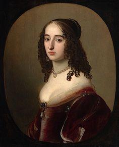 1640s (early) Elizabeth, Princess Palatine; Elisabeth von der Pfalz by Gerrit van Honthorst