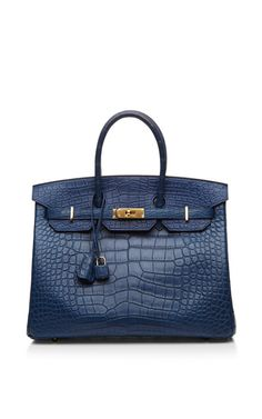 Blue De Malte Matte Alligator 35cm Hermes Birkin Bag by Heritage Auctions Special Collection Now Available on Moda Operandi