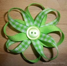 Ribbon Flower Bows! SOOOO EASY!