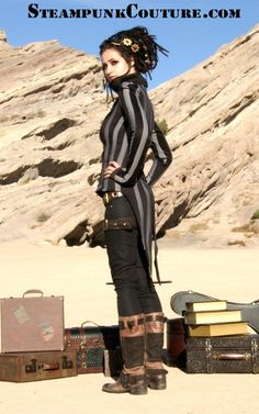 Striped tailcoat #steampunk