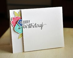 Birthday Flowers Card by Maile Belles for Papertrey Ink (June 2013)