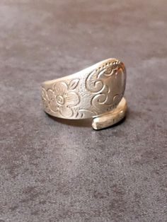 A Vintage Silver Rodd EPNS Hand Made Spoon Ring by JessaBellas on Etsy