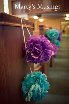 Pom poms for the aisle if you like these i can make them for you pom poms for the aisle if you like these i can make them for you wedding offbeat bride pinterest floral arrangement renting and aisle markers junglespirit Gallery