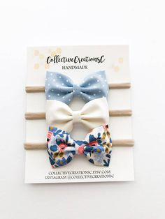 Newborn Baby Headbands Baby Bows Spring Floral Bow
