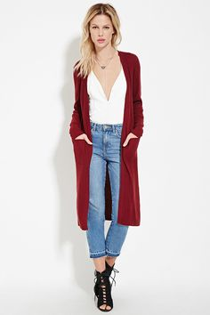Open-Front Longline Cardigan | Forever 21 - 2000221965