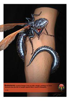 Brainstorm: Creature design: Leech Mosquito by RavenseyeTravisLacey on deviantART