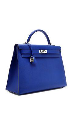 40Cm Electric Blue Epsom Leather Kelly by Hermes Vintage   Moda Operandi 776871c8ecb